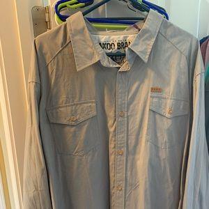 Akoo long sleeve button down shirt 3XL